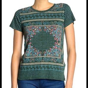 Lucky Brand Scarf Tee Shirt Size Medium WT6